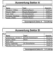 Auswertung Sektor A Auswertung Sektor B - Team Mosella ...