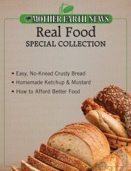 Real Food Special Collection - Mother Earth News