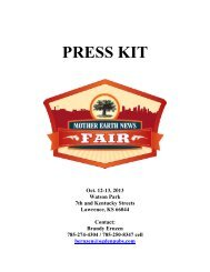 Download the 2013 Lawrence, Kan., Fair Media Kit - Mother Earth ...