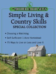 Simple Living & Country Skills Special Collection - Mother Earth News