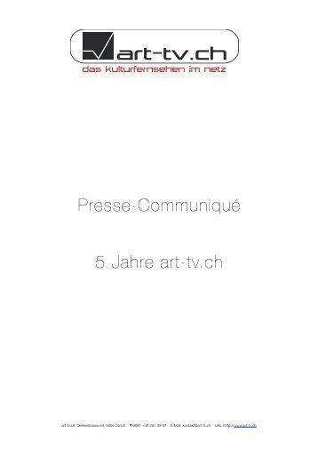 Pressetext - Art-tv.ch