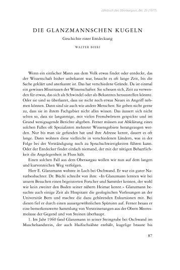 DIE GLANZMANNSCHEN KUGELN - Digibern