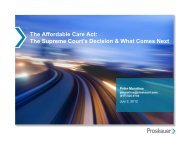 The Future of the Affordable Care Act - Employee Benefit Services of ...