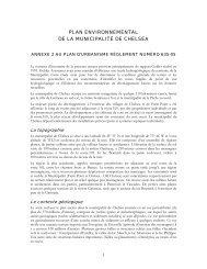 PLAN ENVIRONNEMENTAL DE LA MUNICIPALITÉ DE CHELSEA