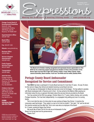 November 2010 • Volume 17, Issue 5 - Portage County Board of ...