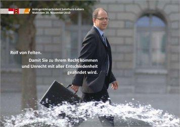 Rolf von Felten. - CVP des Kantons Solothurn