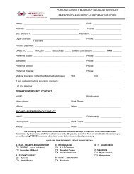 Emergency Medical Form - Portage County Board of Developmental ...