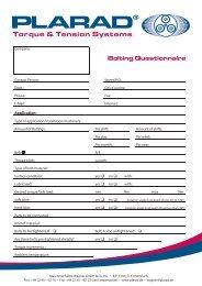 Bolting Questionnaire Bolting Questionnaire -  Plarad