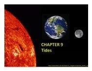 Lecture 9 - Tides