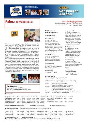 Palma de Mallorca 2011 - CESA Languages