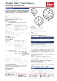 1201 RCh RChG Bourdon Tube Pressure Gauges - Plarad