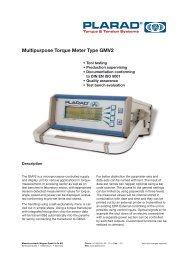 Multipurpose Torque Meter Type GMV2 - Plarad