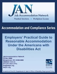 The Employer's Guide to Reasonable Accommodations