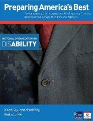 Preparing America's Best (PDF) - National Organization on Disability