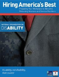 Hiring America's Best (PDF) - The National Organization on Disability