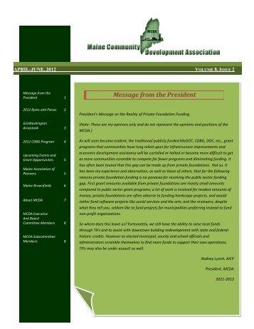 April-June - Maine Community Development Association