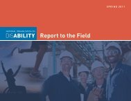 report to the Field - National Organization on Disability