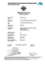 Kalibrierscheln - Plarad