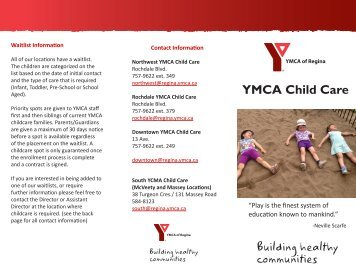 child care enrollment packet south sound ymca