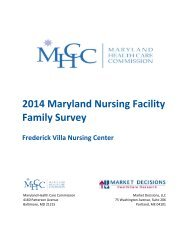 Frederick Villa Nursing Center - Maryland Health Care Commission