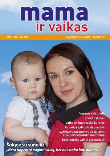 """Žurnalas """"Mama ir vaikas"""" 2015 m. vasara"""