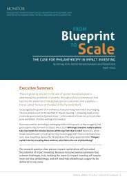 From Blueprint to Scale - Monitor Inclusive Markets - Monitor Group