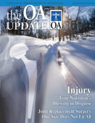 OA Update - Volume 4, Issue 2 (5.09 MB PDF File) - Orthopaedic ...