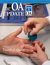 OA Update - Volume 1, Issue 4 (3.84 MB PDF File) - Orthopaedic ...