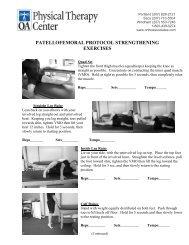 PATELLOFEMORAL PROTOCOL STRENGTHENING EXERCISES