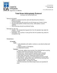 Total Knee Arthroplasty Protocol