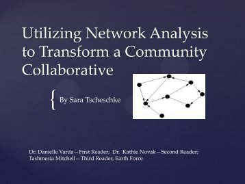 Utilizing Network Analysis to Transform a Community Collaborative
