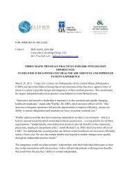 announced - Orthopaedic Associates