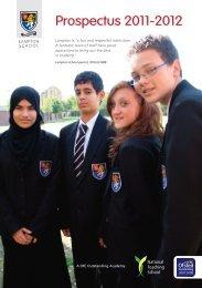 Prospectus 2011-2012 - Lampton School