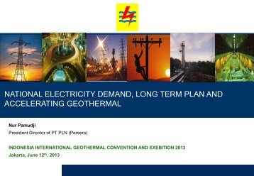 national electricity demand, long term plan and accelerating ...
