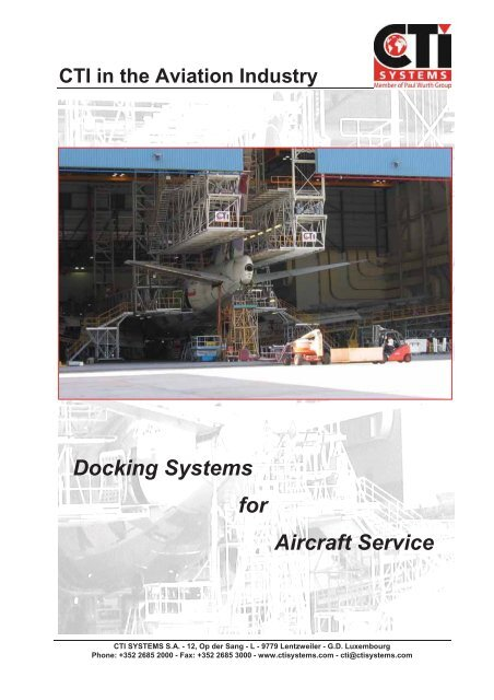 Docking Systems for Aircraft Service - CTI Systems S A
