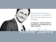 Bewertungsplattformen und facebook - KOHLFÜRST Online Marketing