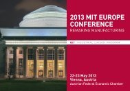 2013 mit europe conference