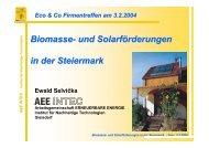Biomasse- und Solarförderungen in der Steiermark