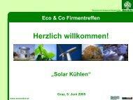 Programm 9.Juni 2005 13:00 Solar Kühlen - Eco World Styria