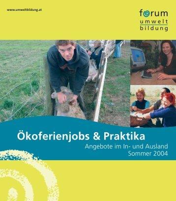 Ökoferienjobs & Praktika