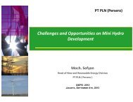 h ll d i i i i d Challenges and Opportunities on Mini Hydro Development