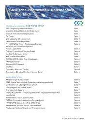 Steirische Photovoltaik-Unternehmen im Überblick - Eco World Styria