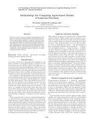 Methodology for Comparing Agent-based Models of Land-use ...