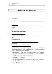 Dienstzettel für Angestellte