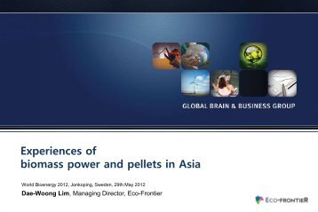 Experiences of biomass power and pellets in Asia