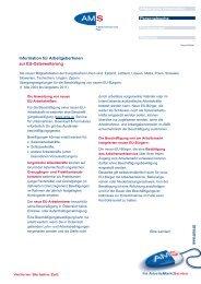 Information für ArbeitgeberInnen zur Osterweiterung