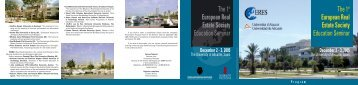 The 1st European Real Estate Society Education Seminar - ERES ...