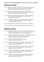 Propositioner til Glostrup Rideklubs C-stævne i dressur d