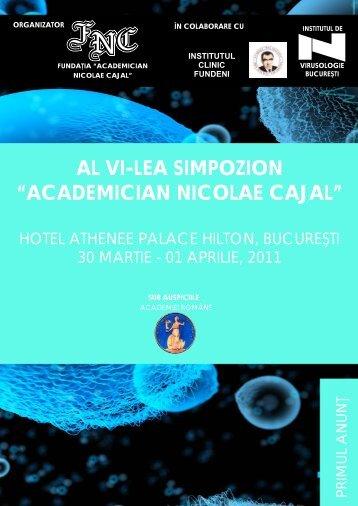 """al vi-lea simpozion """"academician nicolae cajal"""" - Biohellenika"""