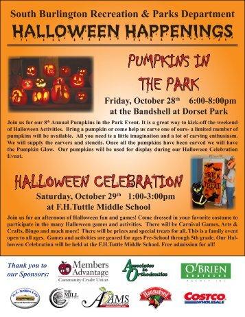 South Burlington Recreation Department Newsletter - Orchard School